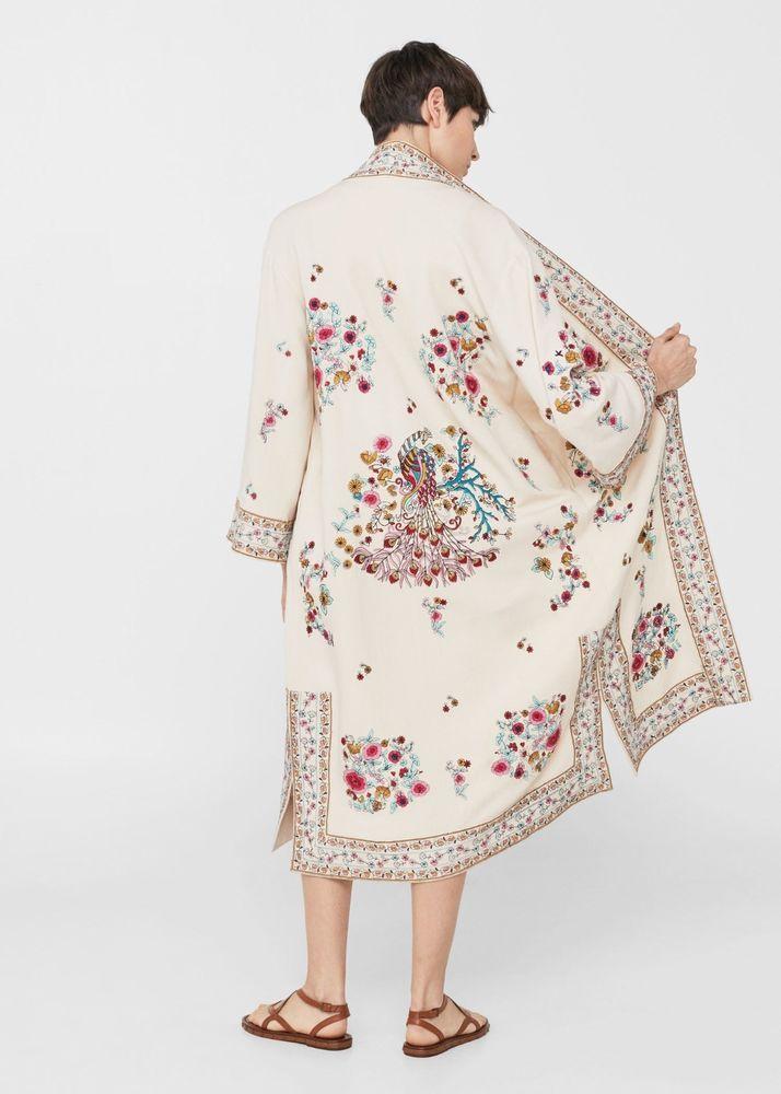 en pies tiros de venta directa de fábrica verse bien zapatos venta Details about MANGO (ZARA GROUP) Linen Blend Embroidered ...