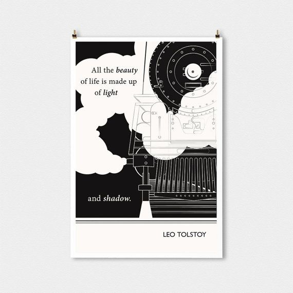 Citaten Kunst Yang Bagus : Leo tolstoy large literary art poster quote