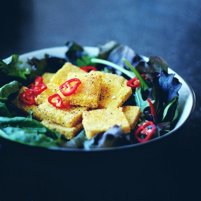Crispy Polenta Without Oil Polenta Nutritional Yeast Jenny Mustard Crispy Polenta Vegan Sweet Potato Yummy Appetizers