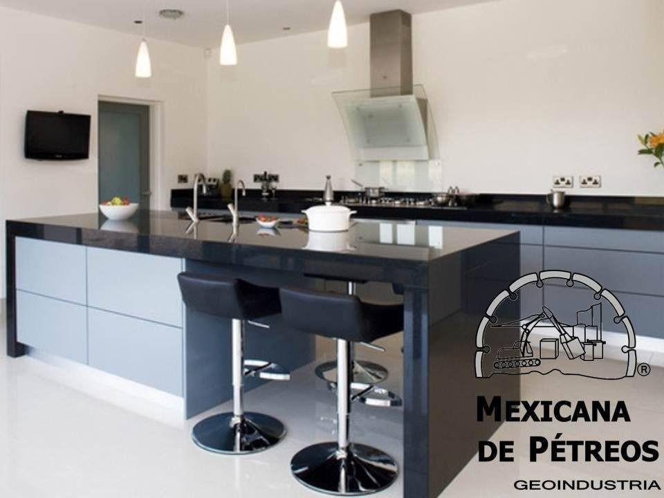 Cubiertas de granito negro absoluto para cocinas for Cocinas de granito negro