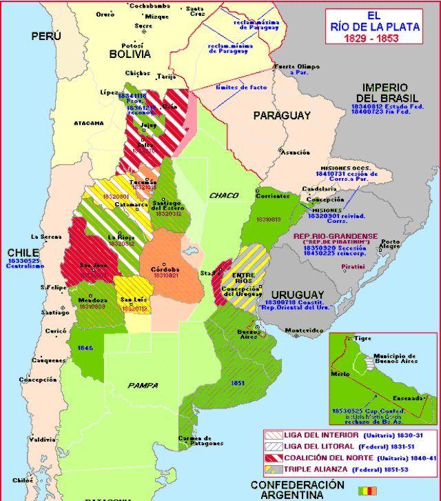 El Rio De La Plata 1829 1853 Mapa Geografia Mapas Históricos