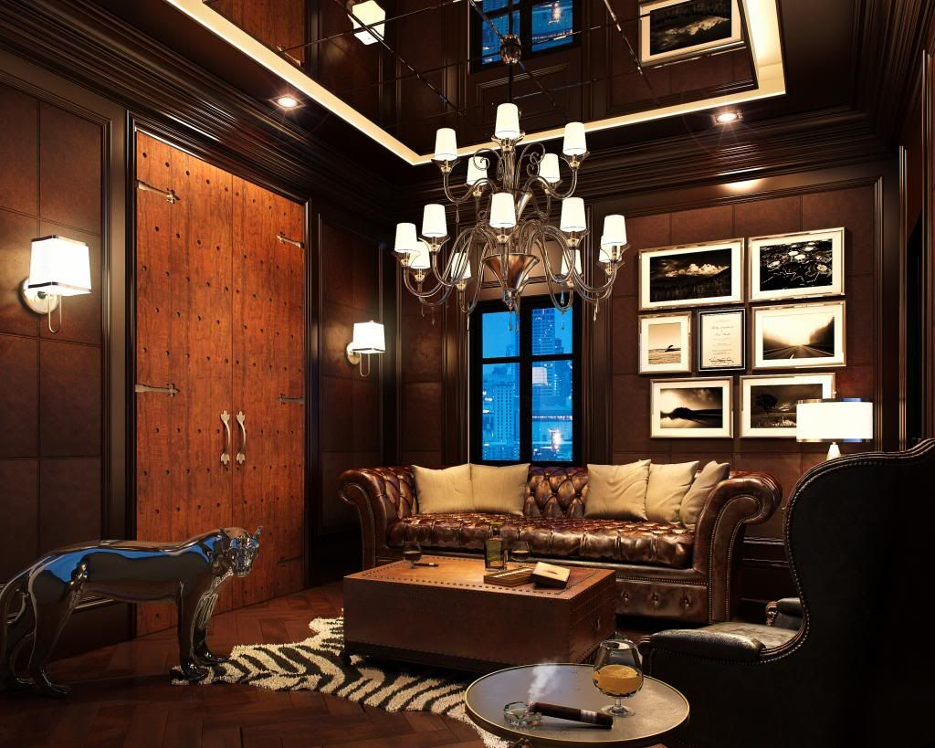 High Quality Cigar Rooms Designs | Cigar Room Farmhouse Living Room Furniture, Leather  Living Room Furniture,