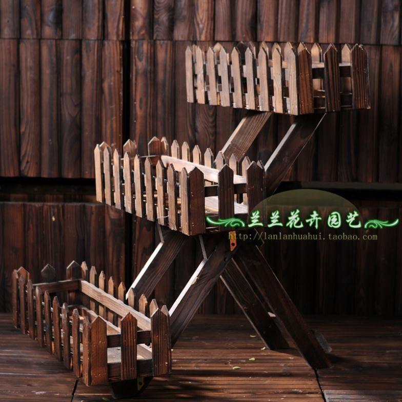 Cheap madera carbonizaci n madera macetas macetas para al for Escalera de madera al aire libre precio