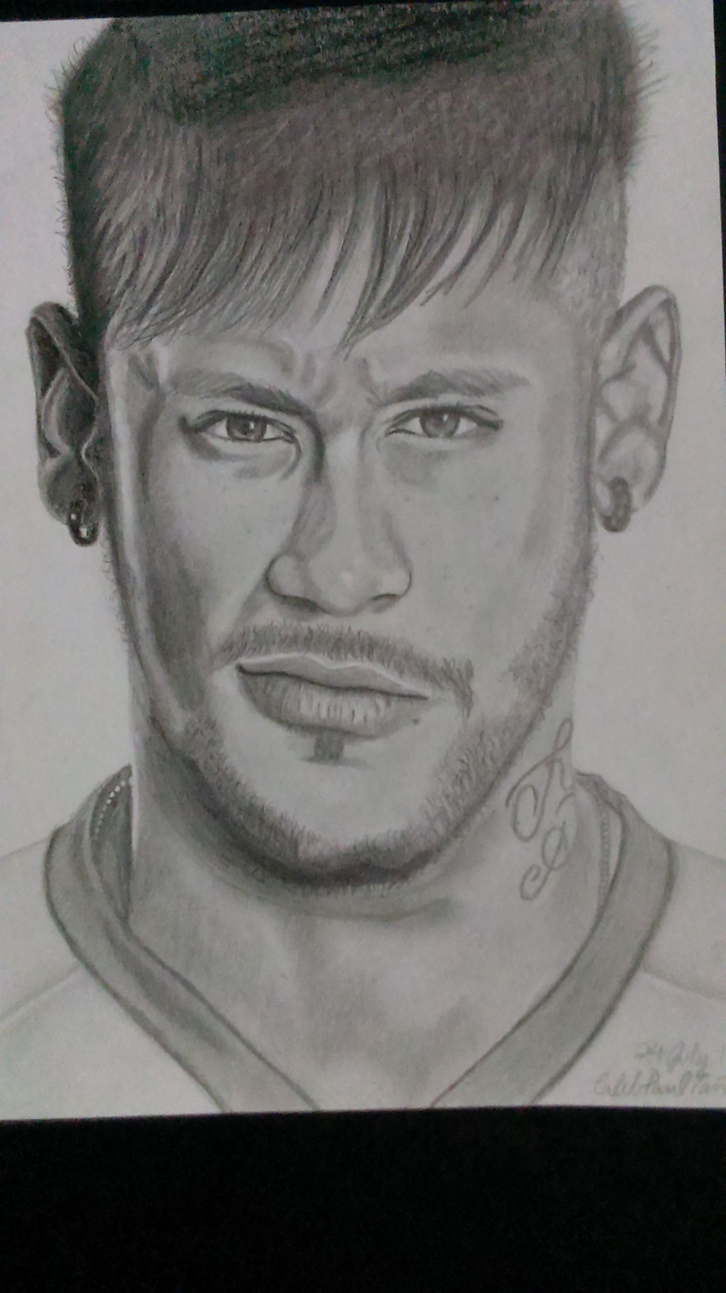 Pencil Drawing Neymar Black And White