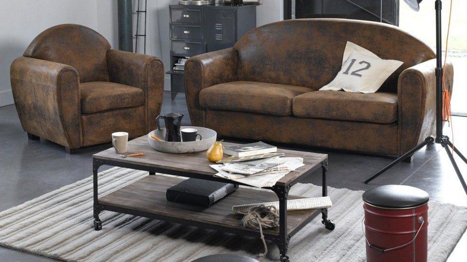 Les 10 Inspirations Industrielles De Melanie Canape Style Industriel Mobilier De Salon Canape Industriel