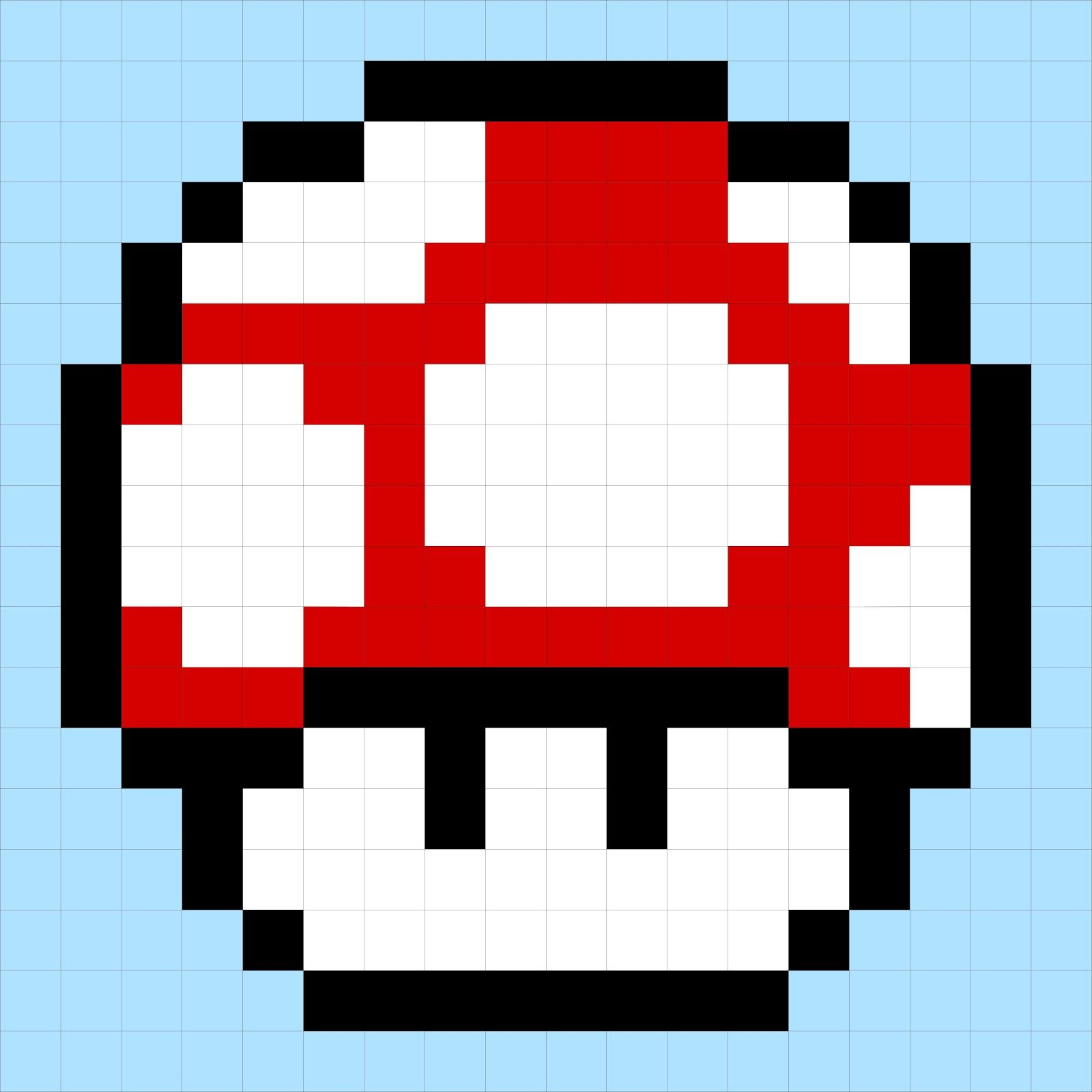 Pixelated Mushroom From Super Mario Bros Mario Bros