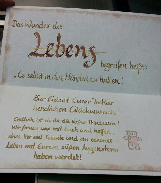 Karte Geburtstag Freundin.Karte Einer Freundin Papier Und Mehr Spruche Zur Geburt