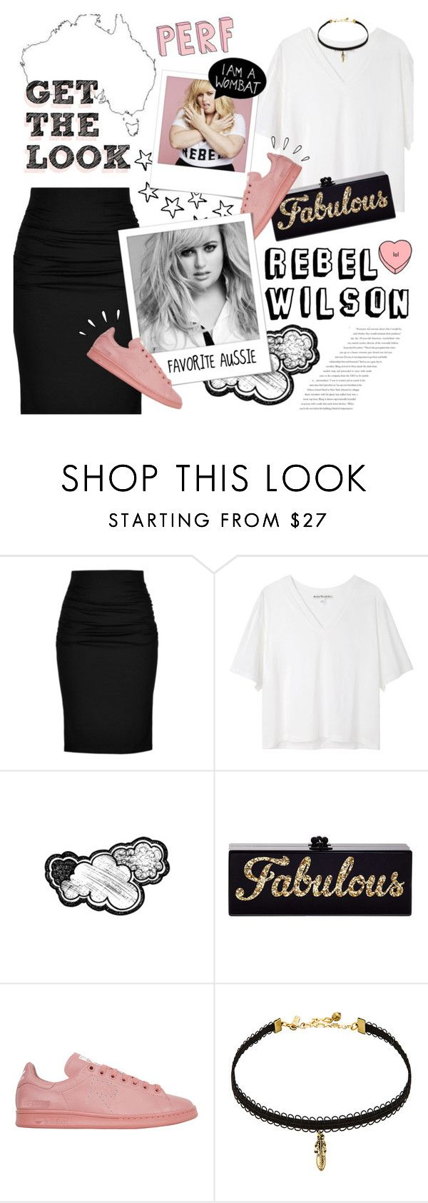 """Get the Look: Fave Aussie Actress ~ Rebel Wilson ~"" by aj93 ❤ liked on Polyvore featuring Balenciaga, Paule Ka, Acne Studios, Polaroid, Edie Parker, adidas, Old Navy, Vanessa Mooney and GetTheLook"