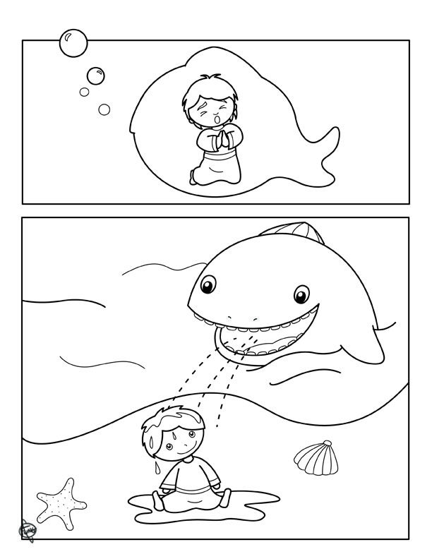 Jonah And The Whale Coloring Page Sunday School Coloring Pages Jonah And The Whale Whale Coloring Pages
