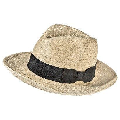 Women's Straw Panama Hat with Black Bow Sash - Cream - Mossimo™