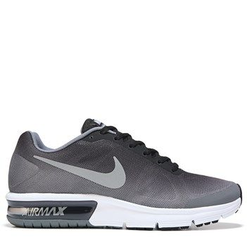 Nike Kids' Air Max Sequent Running Shoe Grade School Shoes (Black/Wolf Grey