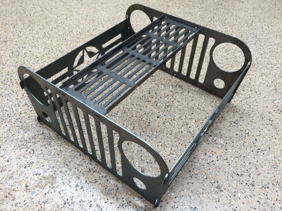 Jeep Fire Pit With Grill Grate, Collapsible And Portable Fire Ring ON SALE!