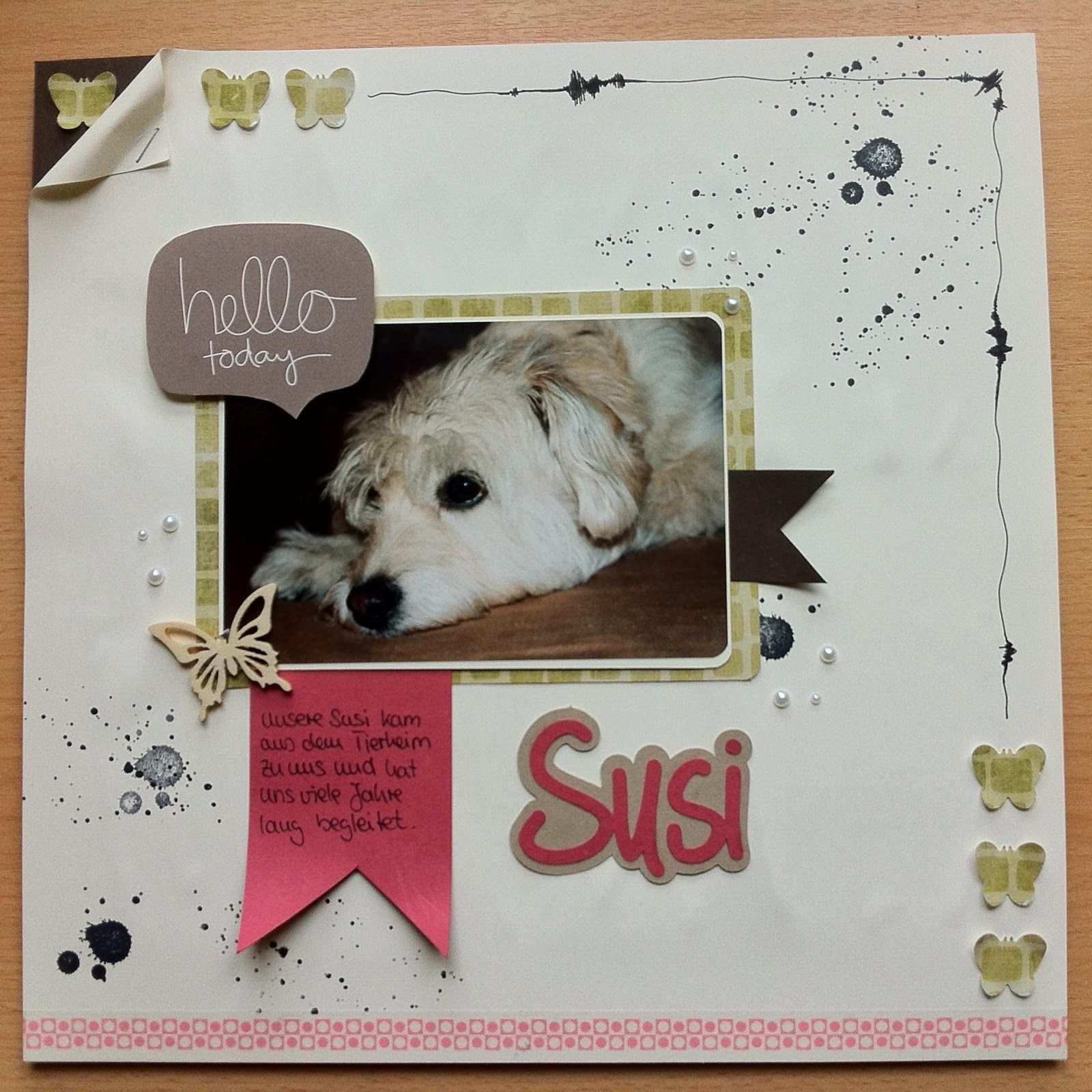 "Scrapbooking Layout ""Susi"""