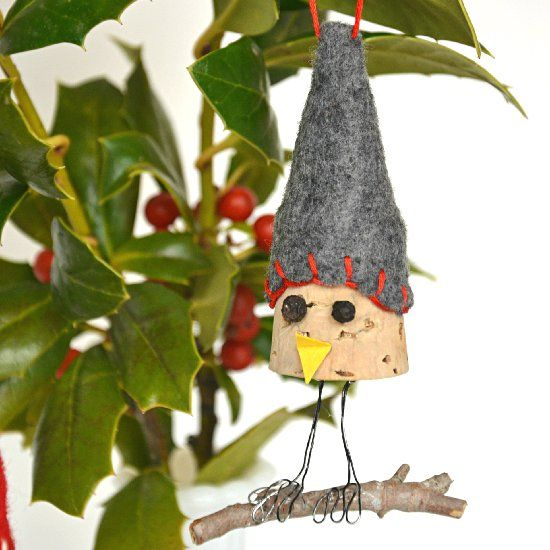 Don't throw away your wine corks yet! This cute bird ornament is super easy to make.