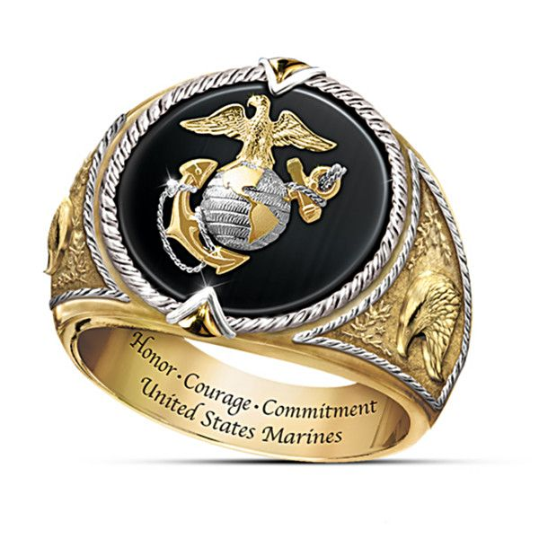 Honor Courage And Commitment Usmc Tribute Men S Ring Marines