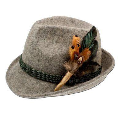 Alpenflustern Trachten Filzhut Mit Hirschhorn Feder Trachtenhut Grau Medium Grosse 56 Trendiger Traditioneller Hochwerti Music Hat Brown And Grey Hats