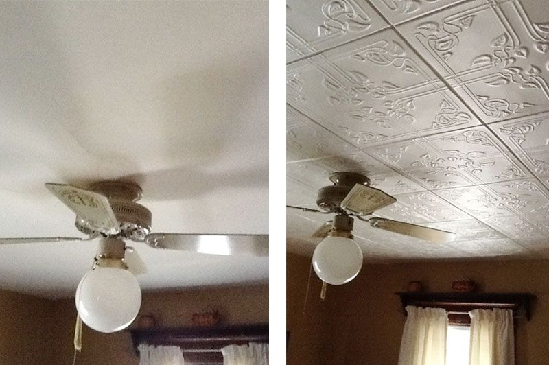 amazing Ceiling Tiles Over Popcorn Ceiling Part - 14: Bedroom with Styrofoam Ceiling Tile R37