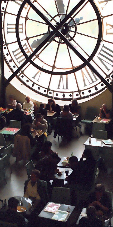 At The Cafe Des Hauteurs At The Musee D Orsay Paris Eiffel