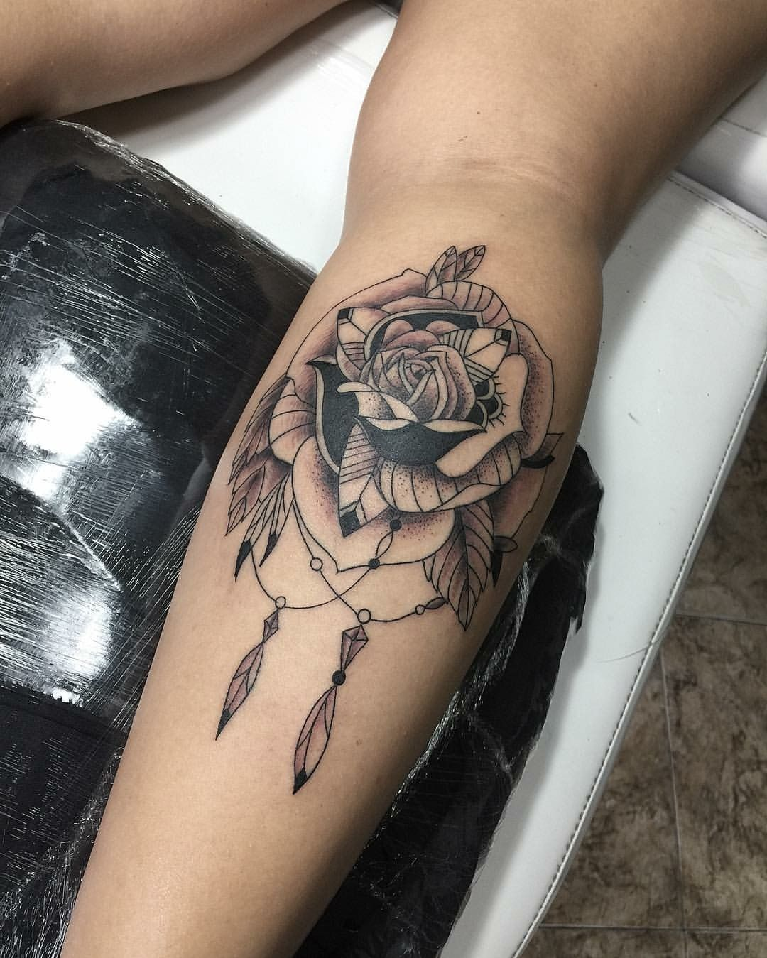 Flor Tatuagem Tattoo Flower Panturrilha Tatuagem