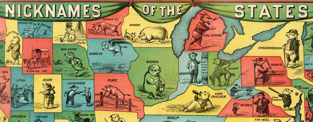 U.S. States given porcine nicknames (1884)