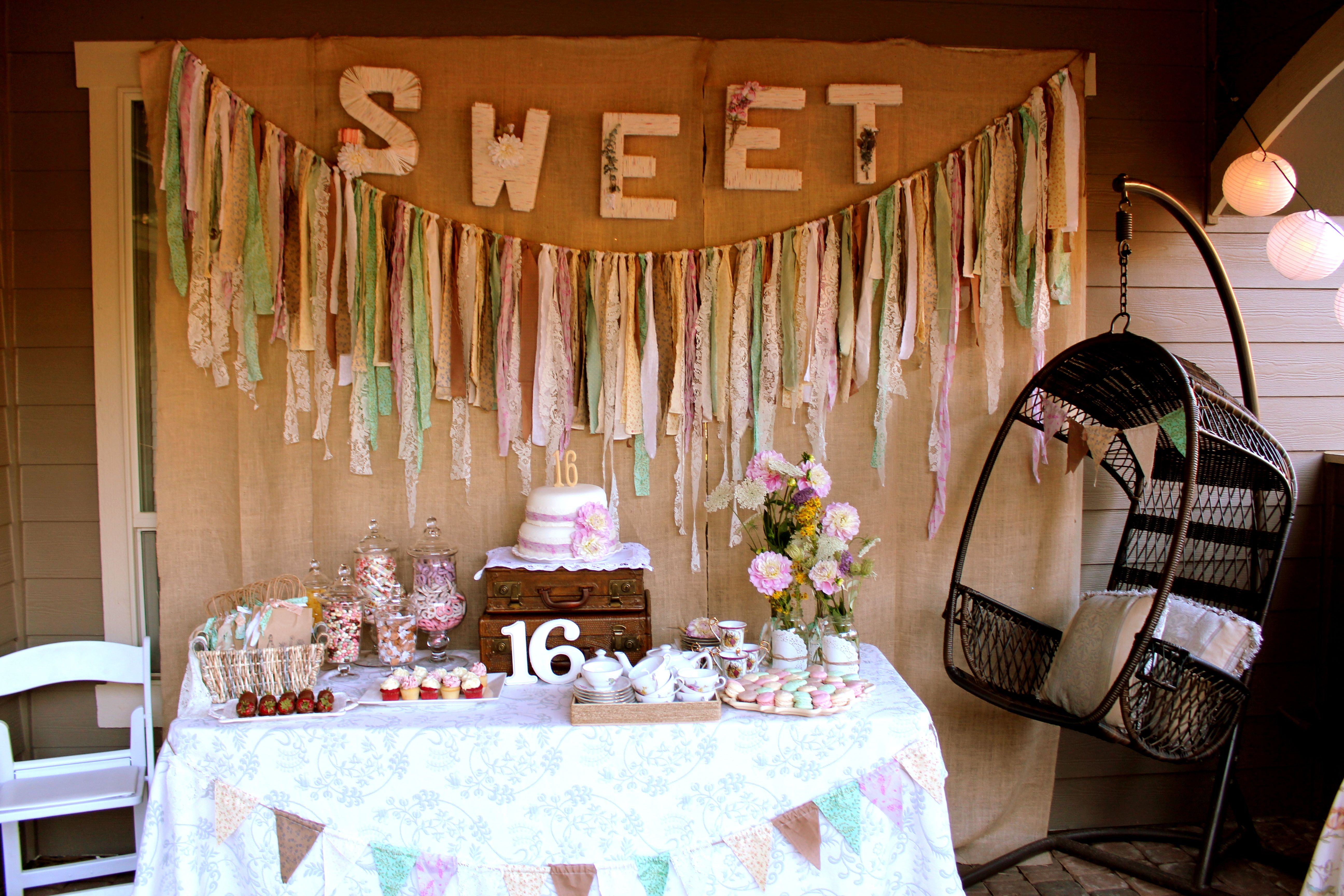 Sweet 16 Vintage Inspired Decorations | Sweet 16 ...