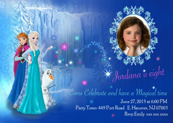 Diy Print Frozen Invitations Frozen Birthday Invites Elsa Etsy Birthday Party Invitation Templates Frozen Birthday Party Invites Frozen Party Invitations