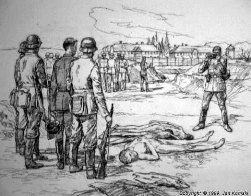 The one thing an SS Soldier loved was photographs to prove his loyalty. Auschwitz Drawing.
