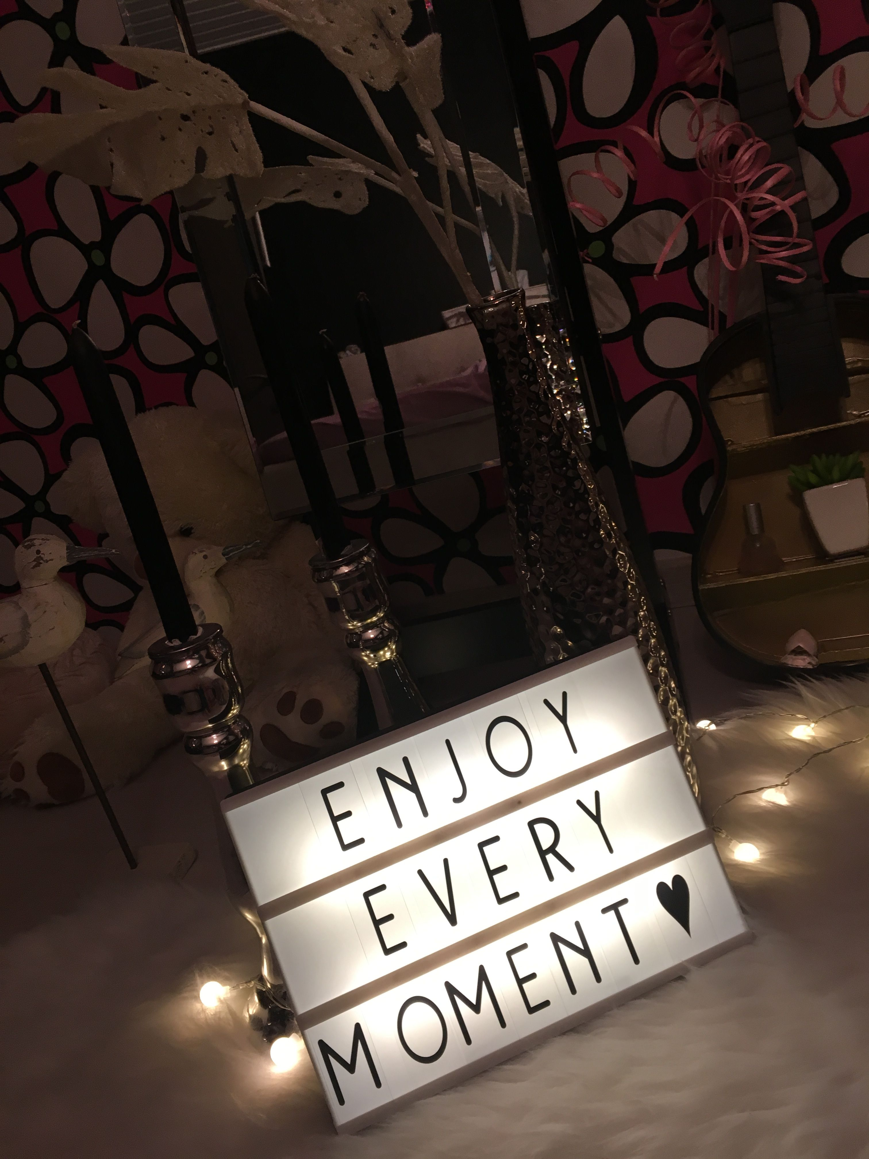 Lightbox Quotes Enjoy Every Moment Lightbox Quote Light Box Quotes Cinema Light Box Quotes Light Letters