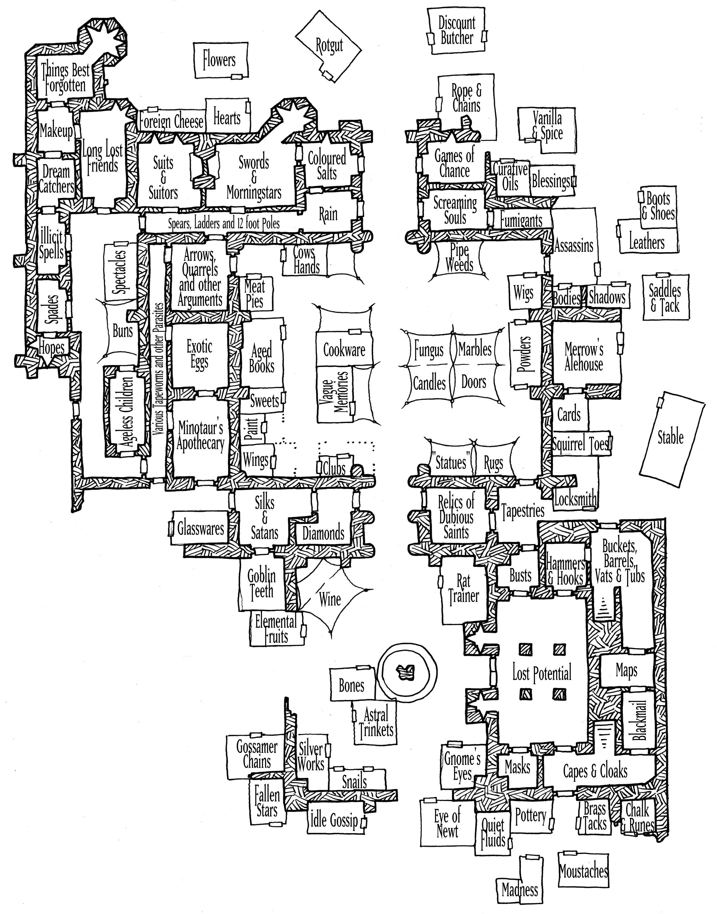 Tuesday Map] The Palace Market | Palace, RPG and Fantasy map