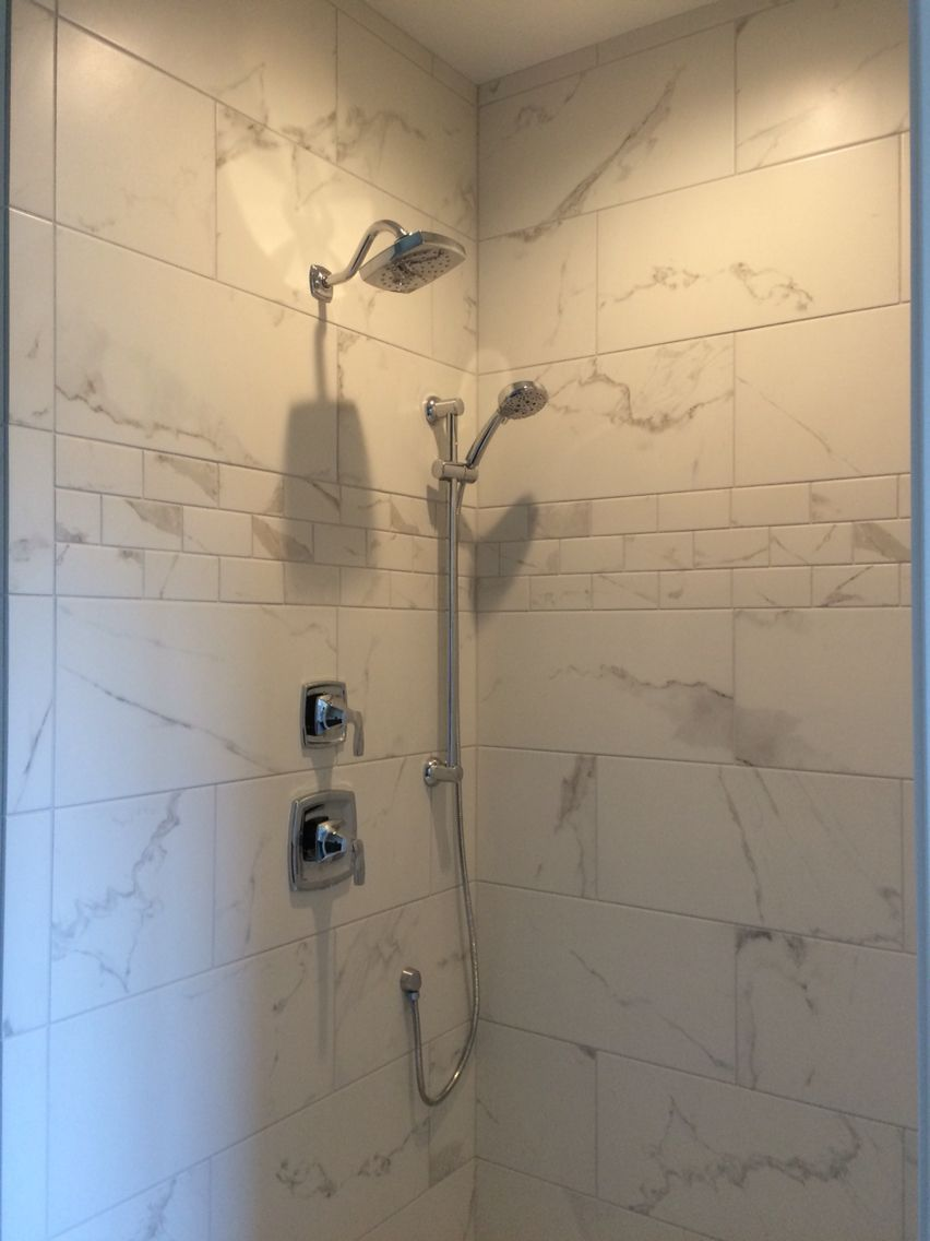 Shaw Maximus Quot Calacatta Quot Porcelain Tile For Shower In 2019