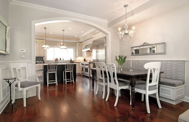 Great use of space for a walk through dining room | dining rooms ...