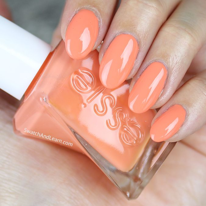 Orange you ready for a mani? Get fruity with Essie Looks to Thrill, a cantaloupe shade from the Gel Couture line! (See a detailed review with swatches on SwatchAndLearn.com.)