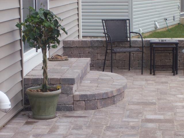 Patio steps. | Patio stairs, Small brick patio, Patio stones on Backdoor Patio Ideas id=29346