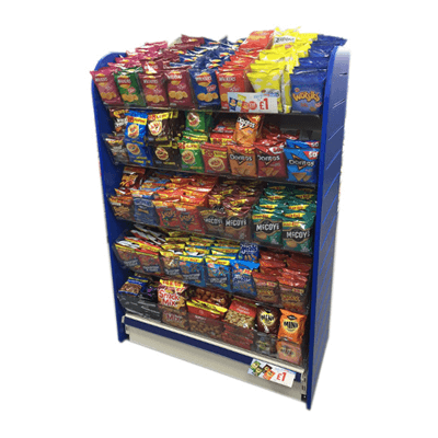 custom countertop potato chip rack hld
