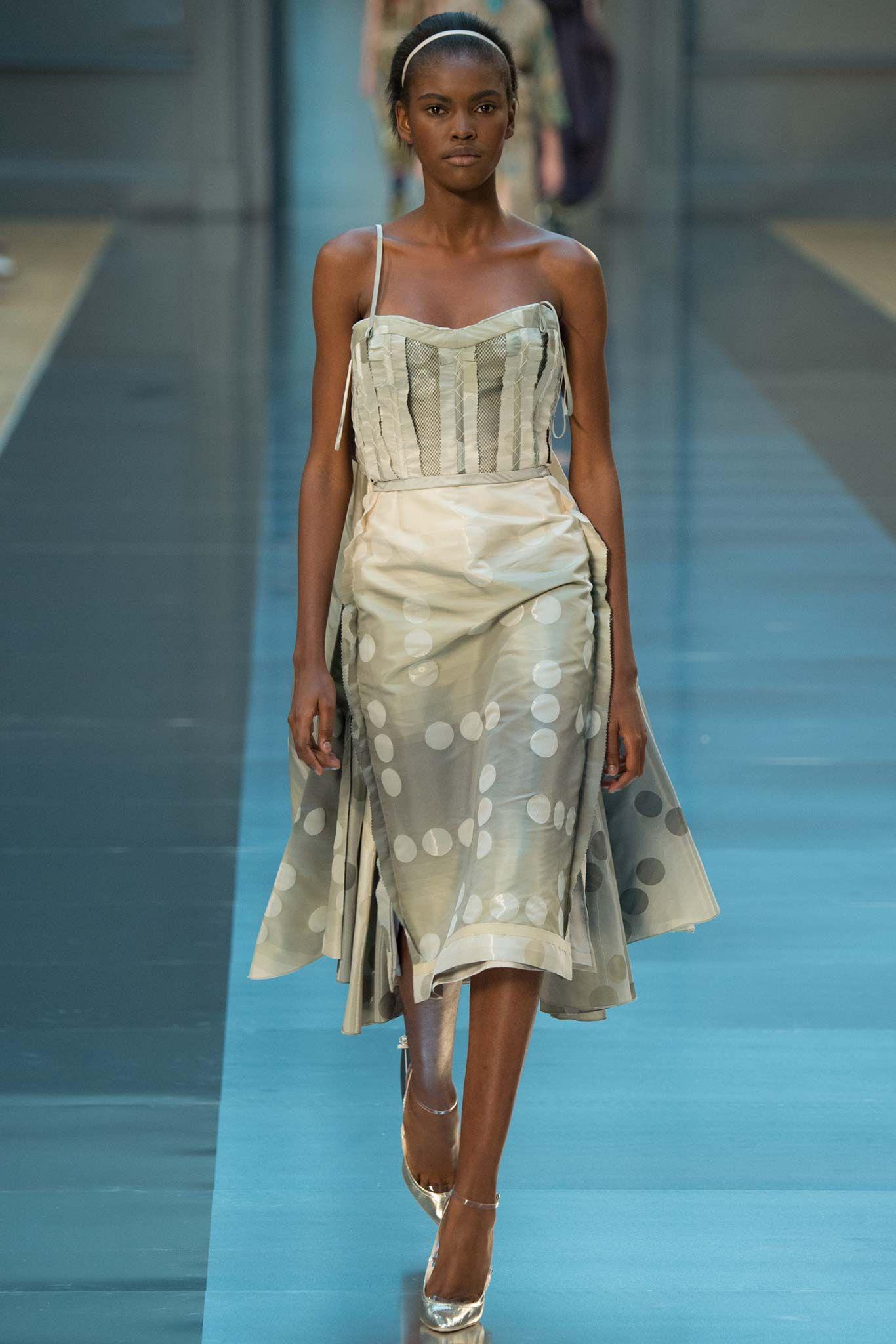 John Galliano for Maison Margiela F/W 2015 Artisanal ,Look 17, Model Amilna Estevão (Elite)