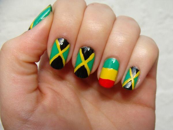 Jamaican nail art - Jamaican Nail Art Nails Pinterest Flags, Nails And Jamaica