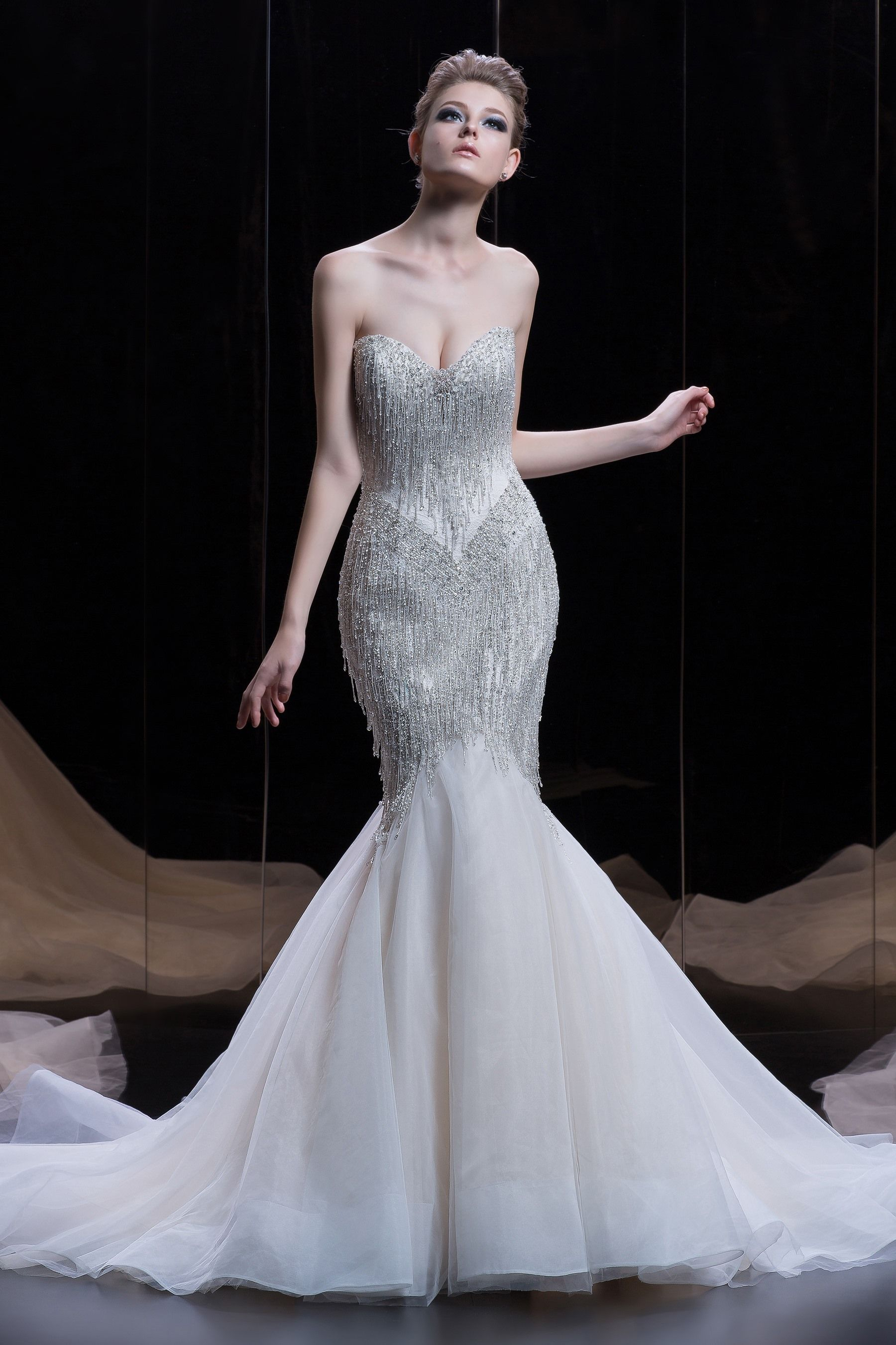 Platinum by Demetrios collection spring 2018 Style DP 340 Beaded ...