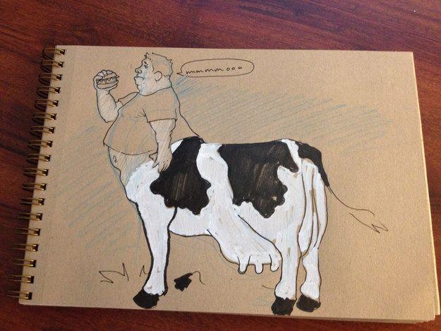 A cow centaur