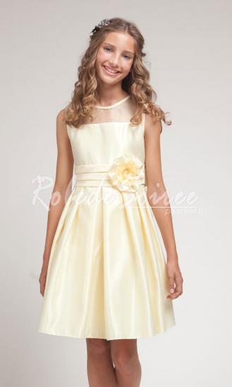 d602a42558f Satin de soie blanc rassemblez robe demoiselle d honneur enfant fleurs   GIRL511-6  - €66.40   Robe de Soirée Pas Cher