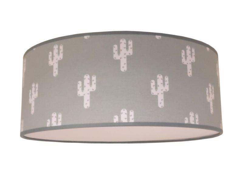 Lamp Kinderkamer Design : Deze prachtige handgemaakte grijze plafondlamp heeft een print van