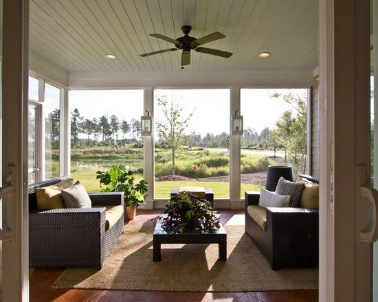Floor To Ceiling Windows The Key To Bright Interiors And Beautiful Views House With Porch
