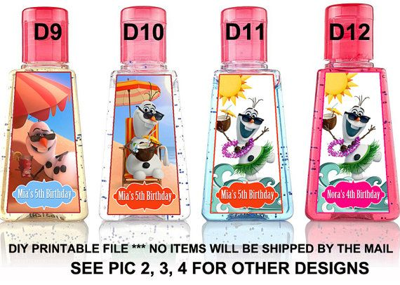 Frozen Hand Sanitizer Label Disney Frozen Hand Sanitizer Label