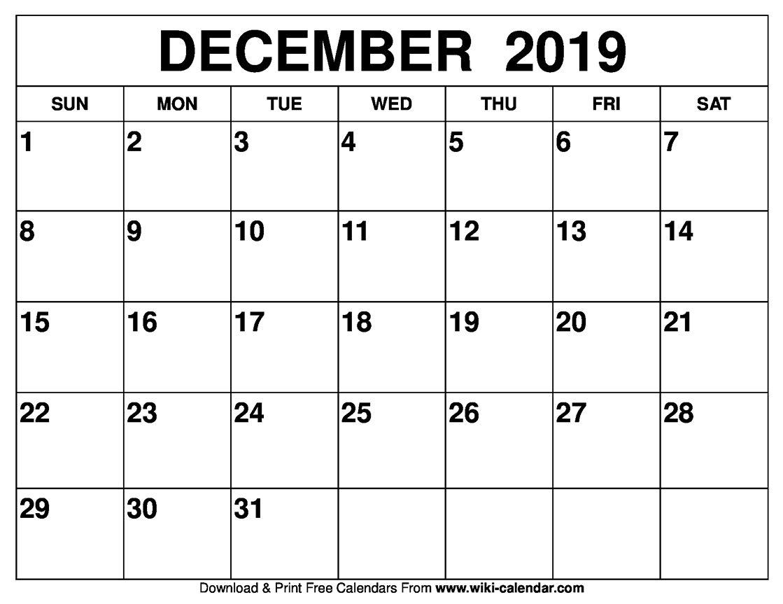 Free Printable December 2020 Calendars Printable Calendar