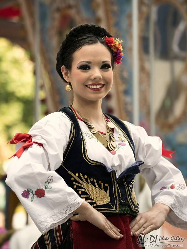 Serbian Beautiful Girl In Traditional Clothes  Serbian -9819