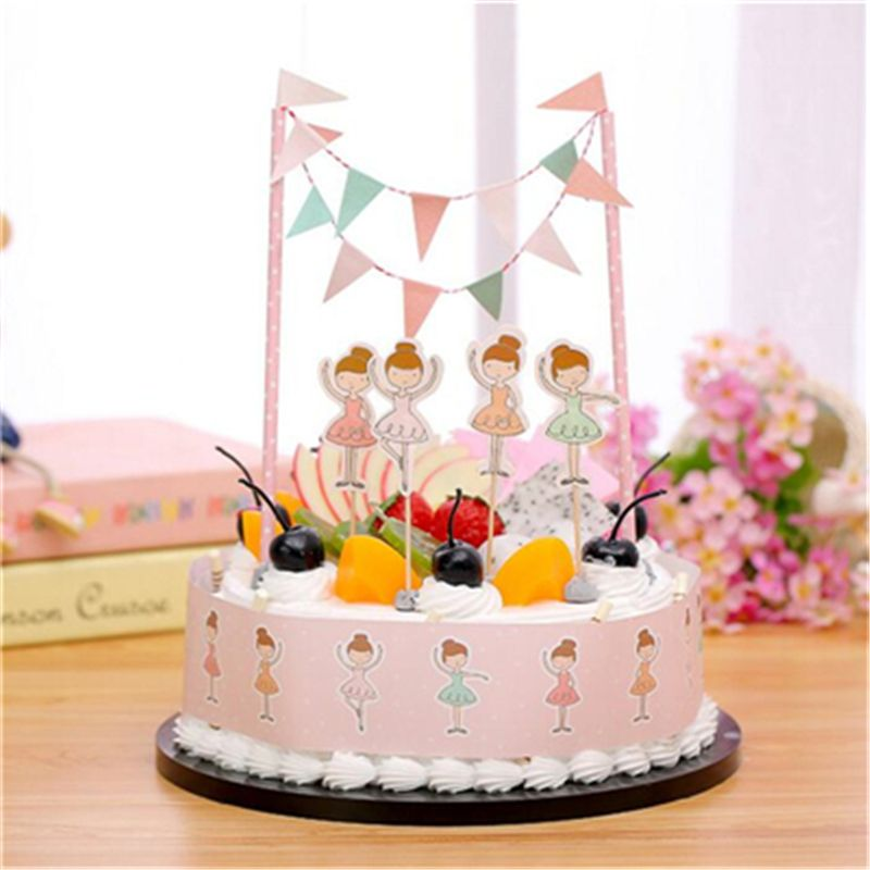 1set Dancing Girl Birthday Cake Topper Birthday Party Decorations