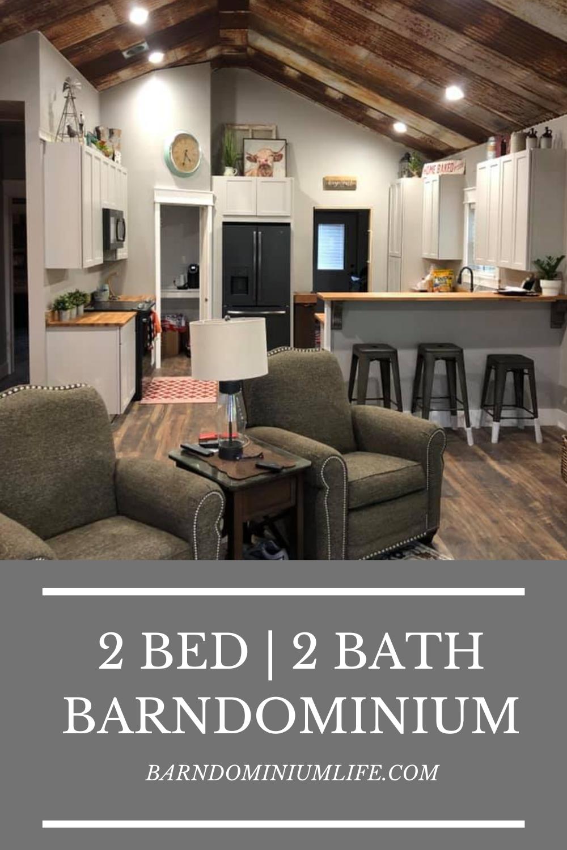 Sweet 2 Bed 2 Bath Barndominium with Floor Plan