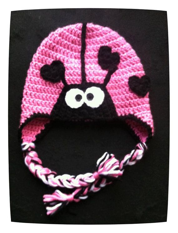 Lady Bug - Love Bug Baby hat - 6 to12 months - Ready to ship today ... 15c6928b8af0