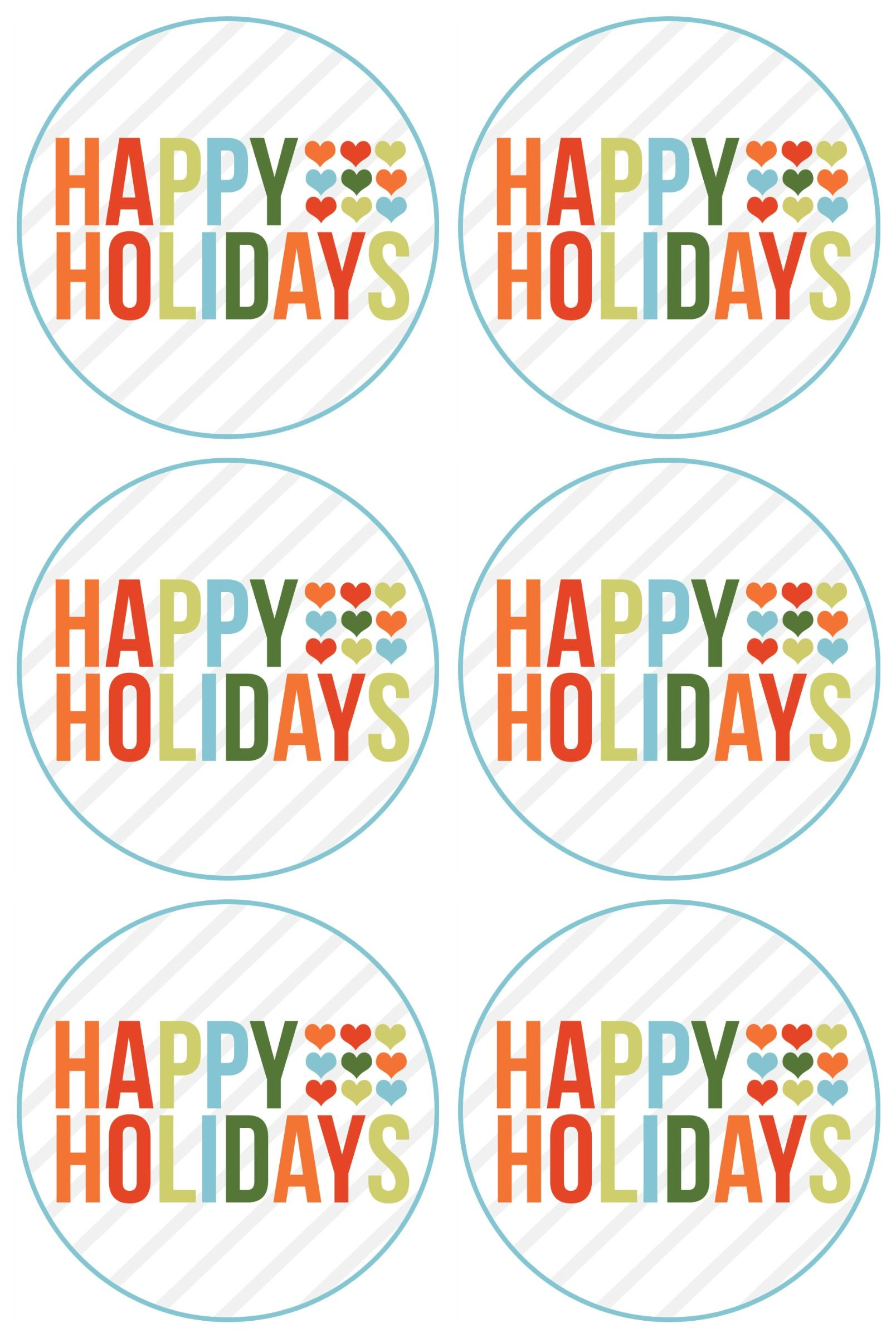 photograph regarding Holiday Tags Printable referred to as delighted holiday seasons totally free printable (rejoin Delighted Holiday seasons and