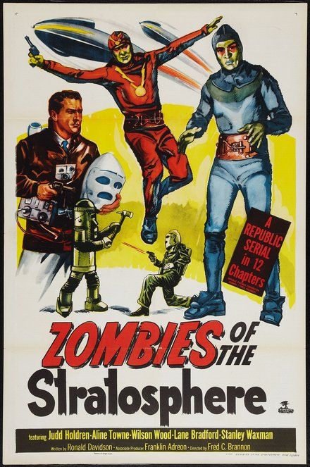 Wall art Zombies of the Stratosphere Reproduction Old film Poster