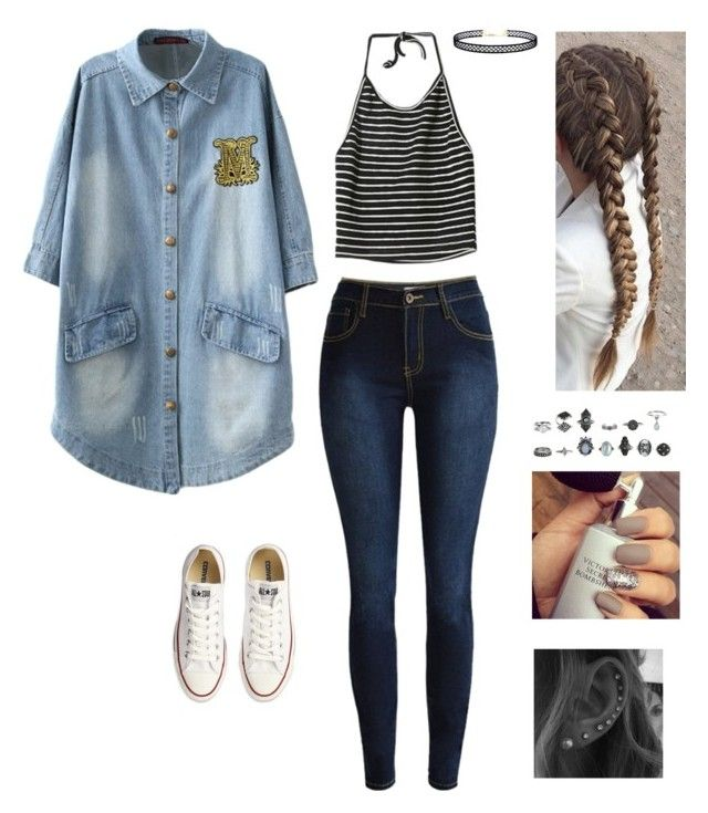 """""""Untitled #146"""" by ariadna25 ❤ liked on Polyvore featuring StyleNanda, Converse and LULUS"""
